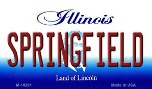 Springfield Illinois State License Plate Wholesale Magnet