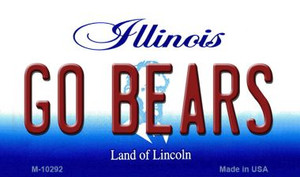 Go Bears Illinois State License Plate Wholesale Magnet