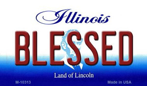 Blessed Illinois State License Plate Wholesale Magnet