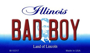 Bad Boy Illinois State License Plate Wholesale Magnet