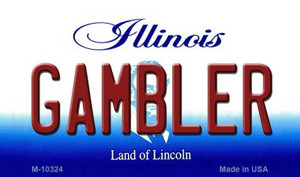 Gambler Illinois State License Plate Wholesale Magnet