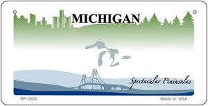Michigan State Background Novelty Wholesale Bicycle License Plate