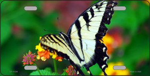 Butterfly - Black and White License Plate Novelty Metal Wholesale