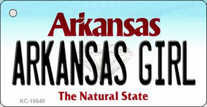 Arkansas Girl State License Plate Wholesale Key Chain KC-10040