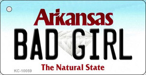 Bad Girl Arkansas State License Plate Wholesale Key Chain KC-10059