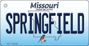 Springfield Missouri State License Plate Wholesale Key Chain