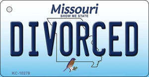 Divorced Missouri State License Plate Wholesale Key Chain