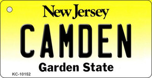 Camden New Jersey State License Plate Wholesale Key Chain
