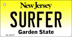 Surfer New Jersey State License Plate Wholesale Key Chain