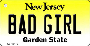 Bad Girl New Jersey State License Plate Wholesale Key Chain
