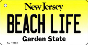 Beach Life New Jersey State License Plate Wholesale Key Chain