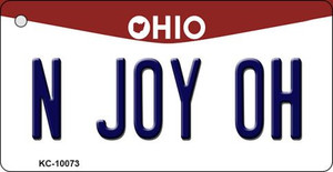N Joy OH Ohio State License Plate Wholesale Key Chain