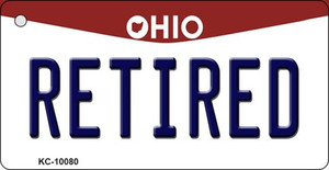 Retired Ohio State License Plate Wholesale Key Chain