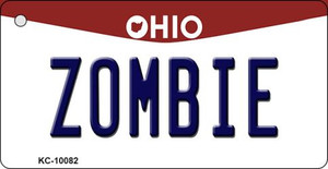 Zombie Ohio State License Plate Wholesale Key Chain