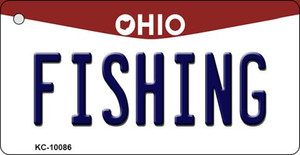 Fishing Ohio State License Plate Wholesale Key Chain