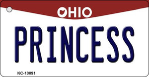 Princess Ohio State License Plate Wholesale Key Chain