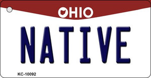 Native Ohio State License Plate Wholesale Key Chain