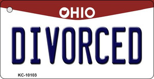 Divorced Ohio State License Plate Wholesale Key Chain