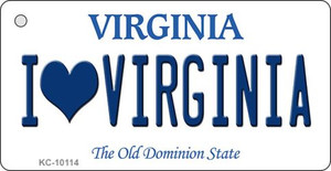 I Love Virginia State License Plate Wholesale Key Chain