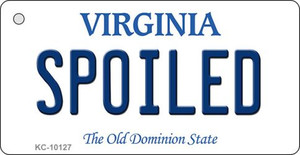 Spoiled Virginia State License Plate Wholesale Key Chain