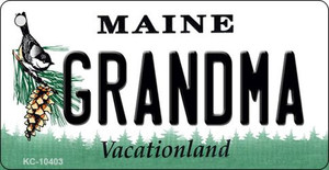 Grandma Maine State License Plate Wholesale Key Chain