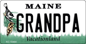 Grandpa Maine State License Plate Wholesale Key Chain