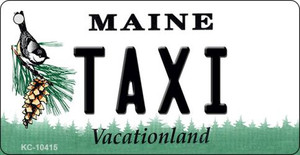 Taxi Maine State License Plate Wholesale Key Chain