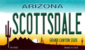 Scottsdale Arizona State License Plate Wholesale Magnet