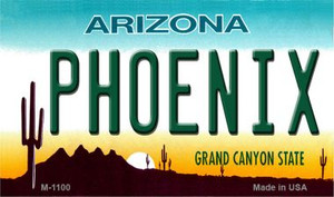 Phoenix Arizona State License Plate Wholesale Magnet
