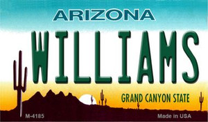 Williams Arizona State License Plate Wholesale Magnet