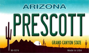 Prescott Arizona State License Plate Wholesale Magnet