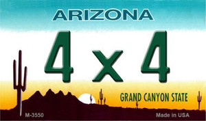 4 x 4 Arizona State License Plate Wholesale Magnet