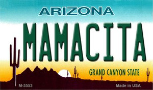 Mamacita Arizona State License Plate Wholesale Magnet