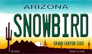Snowbird Arizona State License Plate Wholesale Magnet