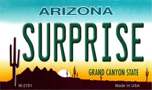Surprise Arizona State License Plate Wholesale Magnet
