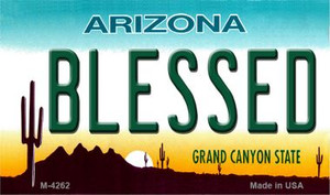 Blessed Arizona State License Plate Wholesale Magnet