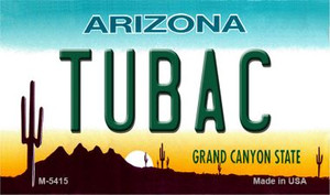 Tubac Arizona State License Plate Wholesale Magnet