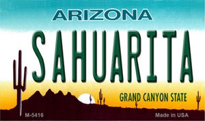 Sahuarita Arizona State License Plate Wholesale Magnet