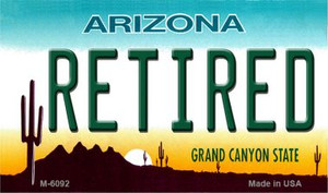 Retired Arizona State License Plate Wholesale Magnet