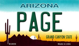 Page Arizona State License Plate Wholesale Magnet