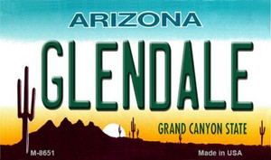 Glendale Arizona State License Plate Wholesale Magnet