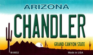 Chandler Arizona State License Plate Wholesale Magnet