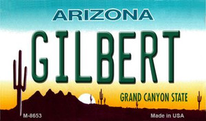 Gilbert Arizona State License Plate Wholesale Magnet