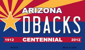 Dbacks Arizona Centennial State License Plate Wholesale Magnet