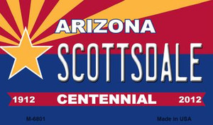 Scottsdale Arizona Centennial State License Plate Wholesale Magnet