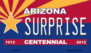 Surprise Arizona Centennial State License Plate Wholesale Magnet