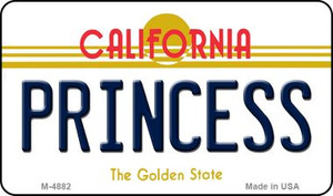 Princess California State License Plate Wholesale Magnet