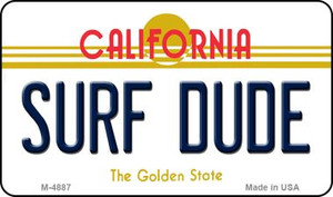 Surf Dude California State License Plate Wholesale Magnet
