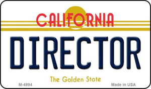 Director California State License Plate Wholesale Magnet
