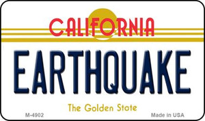 Earthquake California State License Plate Wholesale Magnet
